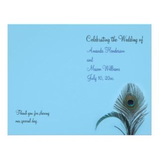 Elegant Peacock Place Card (turquoise) Business Card Templates