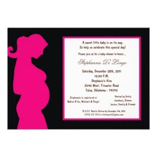 5x7 Black Baby Shower Custom Invitations