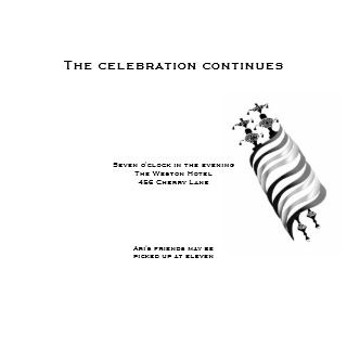 Ari Yonatan Torah Bar Mitzvah Invitation Reception invitation