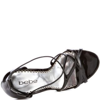 Bebes Black Fan   Black Patent for 109.99