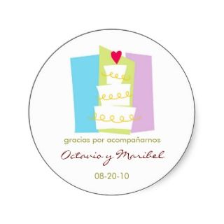 Wedding Cake Favor Stickers / Recordatorios stickers by