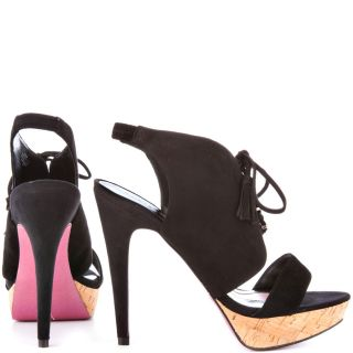 Paris Hiltons Black Miranda   Black Suede for 89.99