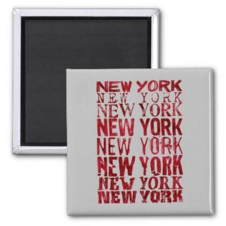 New York, New York Refrigerator Magnets