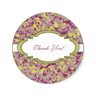 Four Seasons Thank You Label Sticker