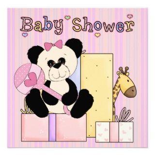 panda bear baby shower invitations announcements invites