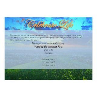 Custom Celebration of Life Invitations