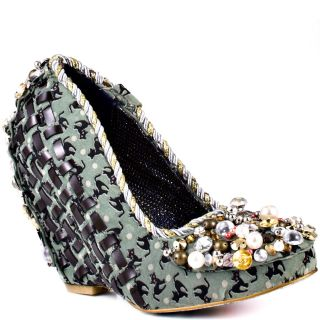 Disco Pants   Green, Irregular Choice, $188.99
