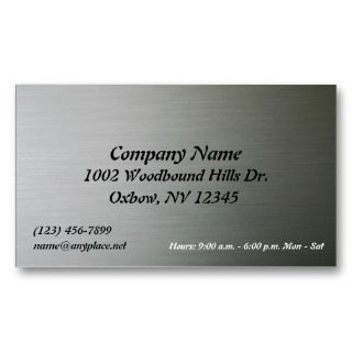 Metal Company Business Card