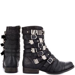 Steve Maddens Black Tyrantt   Black Leather for 129.99