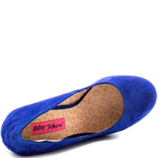 Betsey Johnsons Blue Reily   Blue Suede for 129.99