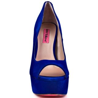 Betsey Johnsons Blue Sita   Blue Suede for 99.99