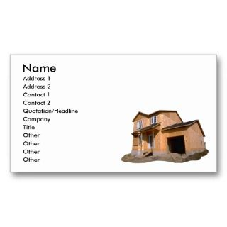 House Under Construction Business Card