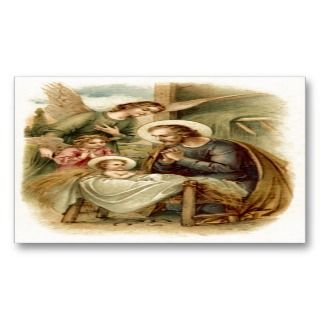 (Quote) St. Joseph Nativity Business Card Templates