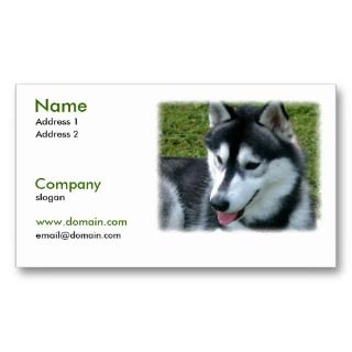 Siberian Husky Dog Business Card