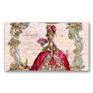 Writing and Marie Antoinette Business Card Template