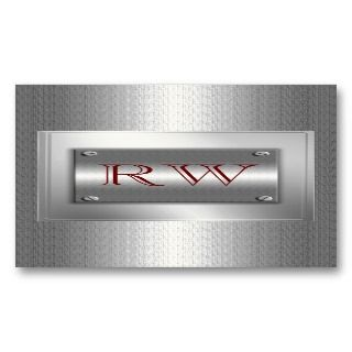Classy Silver Metal Indestructible Business Cards
