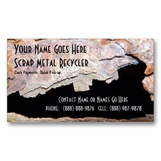 Metal Work or Scrap Recycling Business Card Template