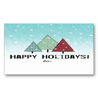 Holidays Two Sided Christmas Gift Tags Business Cards