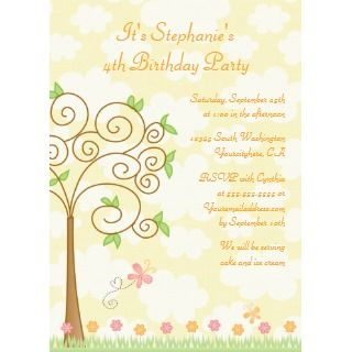 Sweet butterfly garden birthday party invitation invitation