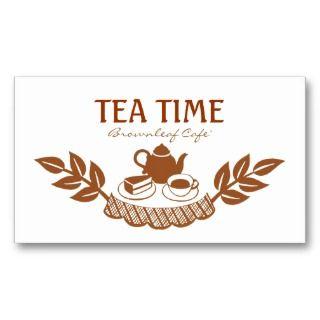 Floral Retro Tea House Coffee Cafe Business Cards