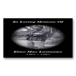 memorial card (black) business cards