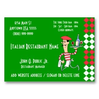 Italian Restaurant Business Cards