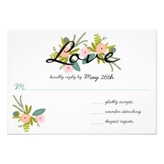 Flora and Fauna Invitation RSVP