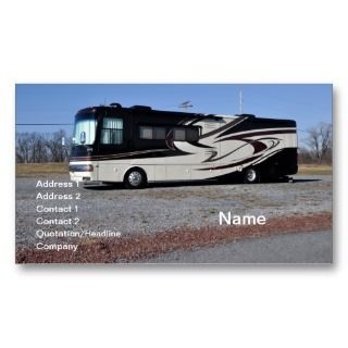 RV or recreational vehicle Business Card Templates