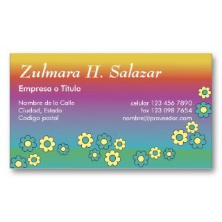Zulmara de Flores Arco Iris Business Card Template