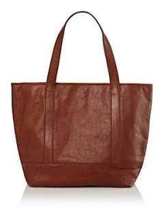 Lands End Women`s luxe leather tote