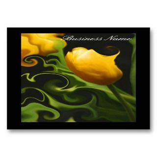 Wild Yellow Tulip Nature Elegant Business Card