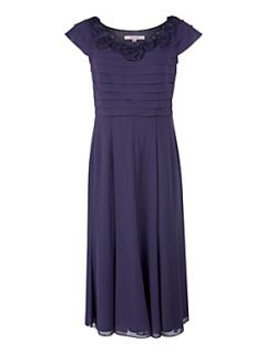 Jacques Vert Amethyst rosette detail dress Purple