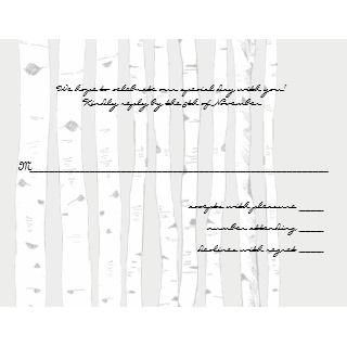 Silver Cloud Birch Tree Wedding Invitations Stationery Design