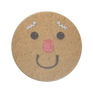 Gingerbread Man Face Coaster