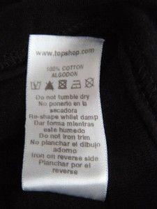 TOPSHOP Petite Black Vest Sequined T Shirt UK Aus 6