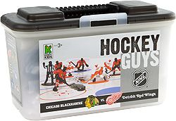 Kaskey Kids NHL Hockey Guys   Redwings vs Blackhawks Action Figures