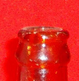 Vintage Amber Pictorial Kuntzs Olde Time Stone Ginger Beer 6 FL Oz
