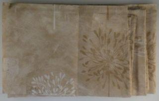 New Kathy Ireland Leeward Coast Fabric Shower Curtain Beige Neutral