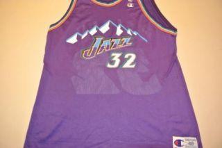 Karl Malone Utah Jazz Purple Jersey Size 48