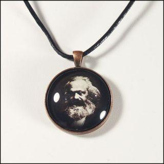 Karl Marx Pendant Necklace Communism Communist Manifesto Socialism