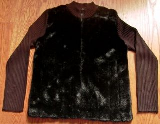 Kathie Lee Collection ladies sweater/jacket size S, black color with