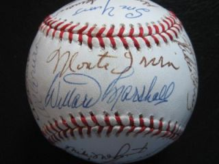 1954 New York Giants World Series Champs All Time Greats Signed