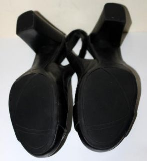 Nine West Kattan Size 8 5 M Black Leather Slingback Heels Pumps