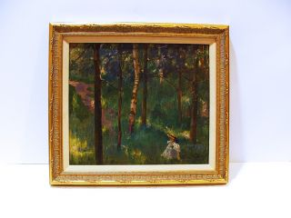RARE EARLY IMPRESSIONIST OIL BY THEODORE KAUTZKY NA  LISTED ARTIST
