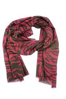 Kashmere New Pink Zebra Print Cashmere Wrap One Size BHFO