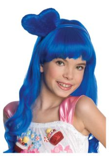Katy Perry California Girls Blue Child Wig Gurl Halloween Hair Heart