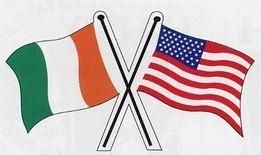 USA FLAGS Friendship Irish Decal Car STICKER   Celebrate your heritage