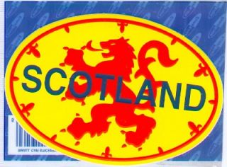 Royal Scotland Standard Flag Scottish Oval Decal Car Sticker