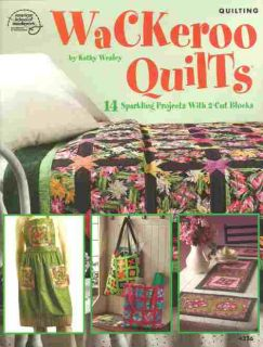 Quilting Wackeroo Quilts Pattern Booklet 14 Projects 2 Cut Blocks