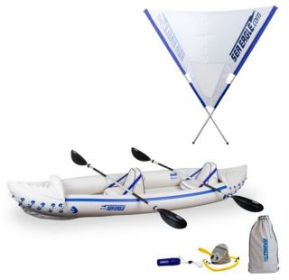 370 Pro 3 Person Inflatable Kayak Canoe Quiksail 45° Boat Sail
